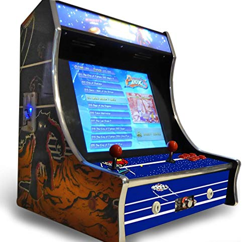 Cocktail Arcade Machine 19-Inch Screen Bartop Tabletop with 960 Classic Games 1980s/1990s
