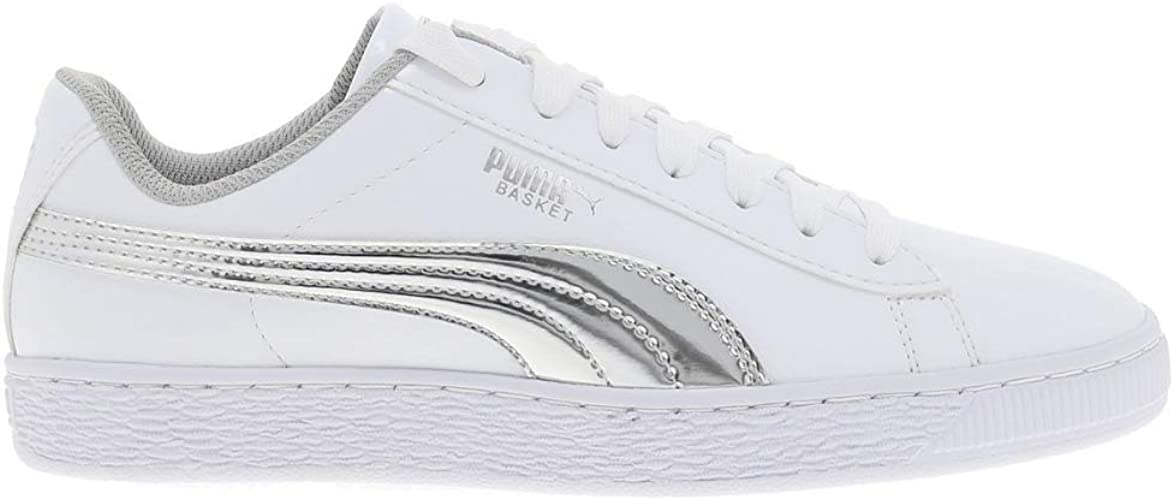 PUMA Basket Mirror Jr, Sneakers Basses Mixte Enfant