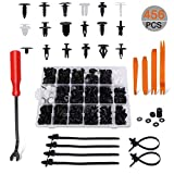 carsun 456 Pcs Car Body Retainer Clips & Plastic Fasteners Kit with Auto Trim Removal Tool -18 Most Popular Sizes Auto Push Pin Rivets Fastener Removal Tool Set- Door Trim Fasteners Panel Clips for GM