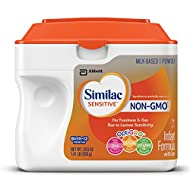 Similac Sensitive Non-GMO Infant Formula with Iron, For Fussiness and Gas, Baby Formula, Powder, 1.41 lb (Pack of 6)