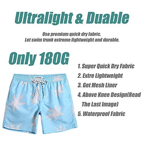 db3a85ccf6 ... MaaMgic Mens Palm Tree Swim Trunks Bathing Suits Board Shorts Swimming  Shorts ...
