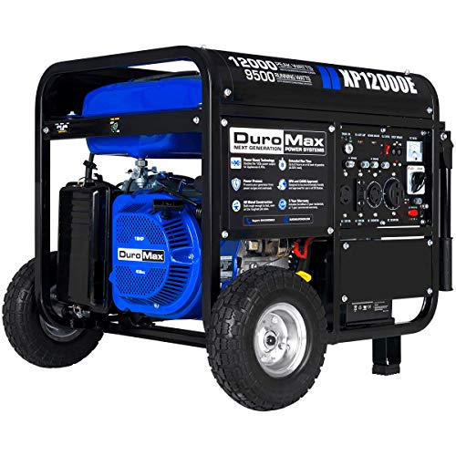 DuroMax XP12000E 12,000-Watt Gas Powered Portable Generator