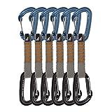 Fusion Climb QDS-9301WG-BLU-9301ST-BLK-11 Contigua Straight and Wire Gate Caribiners Ultra-Light Quickdraw 6 Pack WG/ST-11CM Blue, Black