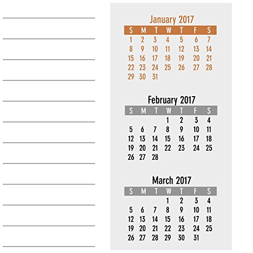 AT-A-GLANCE Desk / Wall Calendar 2017, Monthly, 11 x 8-1/2