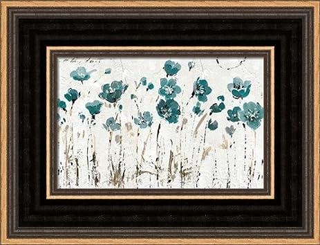 .com: abstract balance vi blue - framed art print - 4x6 fine ...