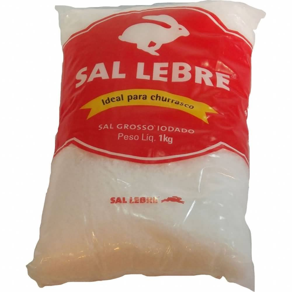 Thick Barbecue Salt - Sal Grosso para Churrasco - Lebre - 32.27oz. (1Kg) : Baking Powders : Grocery & Gourmet Food