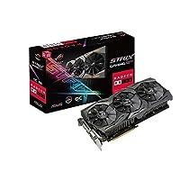 Asus AMD Radeon 8GB GDDR5 DVI 2HDMI 2DisplayPort PCI-Express Video Card Model STRIX RX 580 OC GAMING