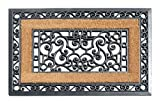 A1 Home Collections First Impression Rubber and Coir Molded Doormat, 23'' L x 35'' H