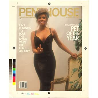 Penthouse November 1982 Production Art Cover Draft Corrine Alphen