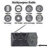 WIOR Weather Radio, Solar Hand Crank Radio with
