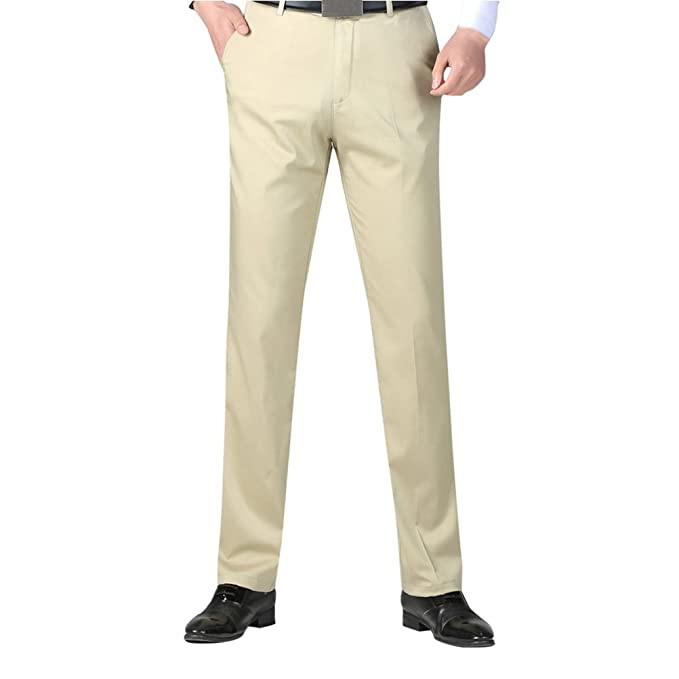 Zhhlaixing Pantalones de Traje para Hombre Negros Slim fit Negocio Fiesta  Ceremonia Formal Work Home Office Pants 30-40  Amazon.es  Ropa y accesorios b5561258028