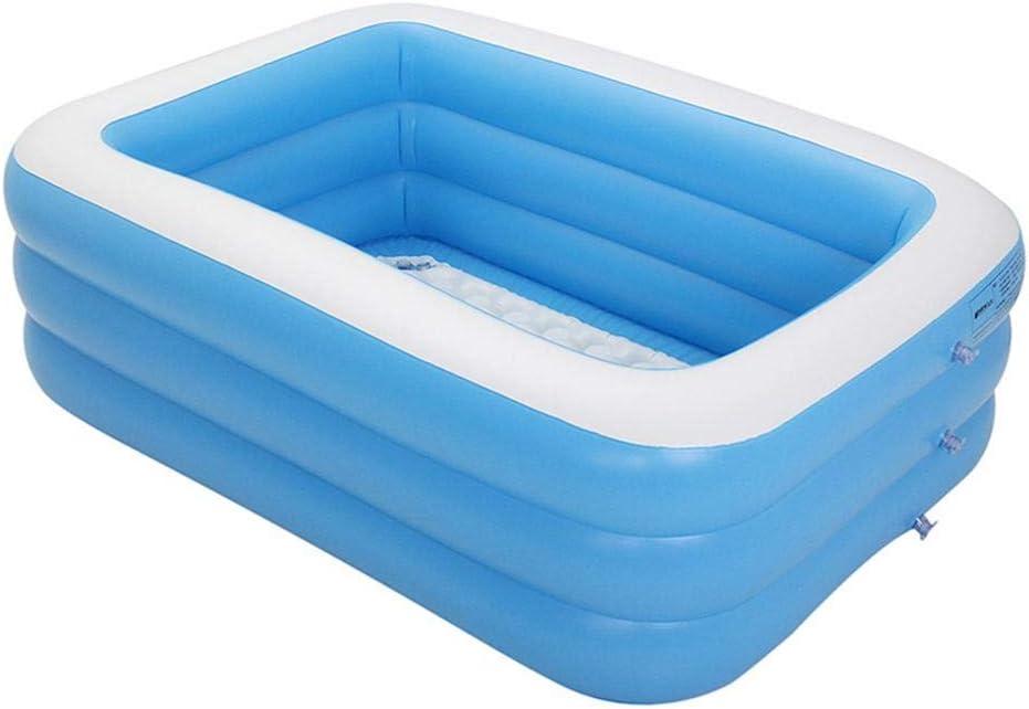 Delan Piscinas hinchables de PVC azul rectangular piscina para interior: Amazon.es: Jardín