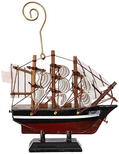 - Hampton Nautical Wooden Cutty Sark Tall Model Clipper Ship Christmas Ornament, 4