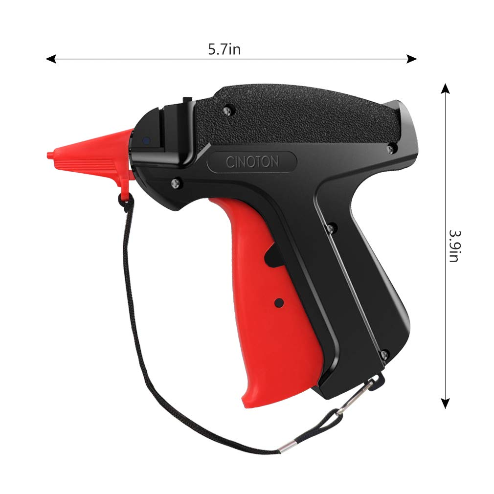 CINOTON Clothes Tagging Gun, Price Tag Gun with 1500 pcs 2'' Standard Fasteners, 6 Needles,10 pcs Labels, Tag Gun for Clothing Fit Yard Sale/Flea Market and Decorate by CINOTON (Image #7)