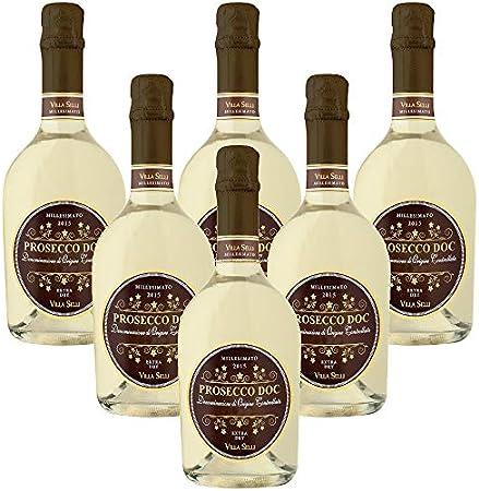 Prosecco DOC Millesimato Villa Selli Vino Espumoso Italiano (6 botellas 75 cl.)