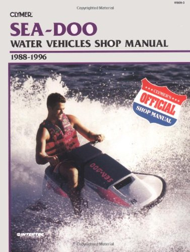 1996 Transports - Sea-Doo Water Vehicles Shop Manual 1988-1996 (Clymer Personal Watercraft)