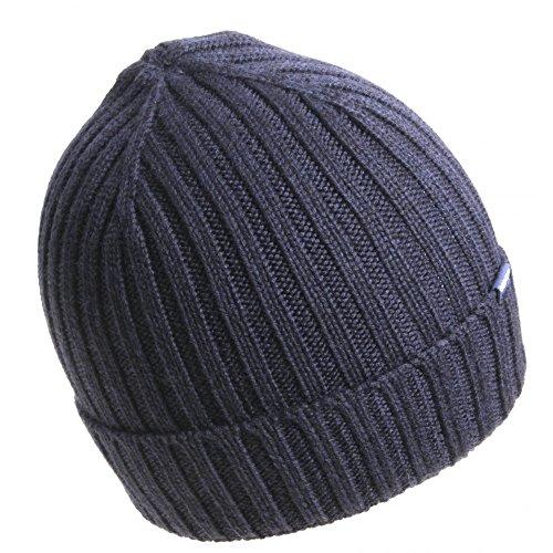 Coste Berretto Woacc1373 100 Blu Blue In lana 300 Beenie Hat ac93 Maglia Navy Wool A Woolrich BA7wq48xq