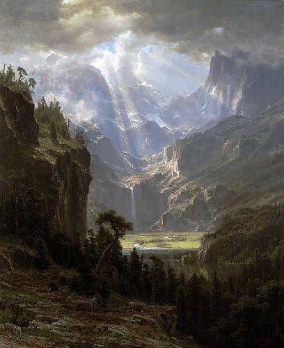 Estes Park by Albert Bierstadt Giclee Fine ArtPrint Reproduction on Canvas