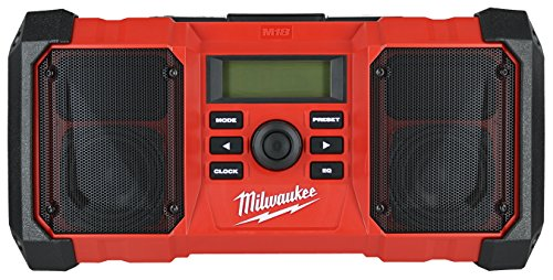Milwaukee 2890-20 18V Dual Chemistry M18 Jobsite Radio with Shock Absorbing End Caps, USB 2.1A Smartphone Charging, and 3.5mm Aux Jack by Milwaukee (Image #1)