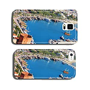 View of Alanya harbor from Alanya peninsula. Turkish Riviera cell phone cover case Samsung S6