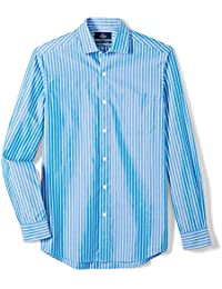 Men's Classic Fit Spread-Collar Sport Shirt With Pocket