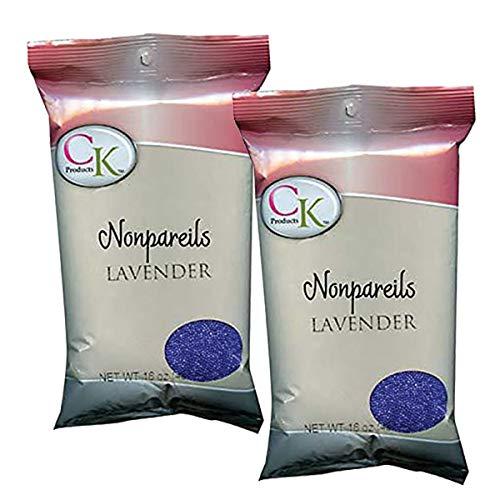 CK PRODUCTS 1 LB NON-PAREILS LAVENDER (2PK) - DECORATING SPRINKLES