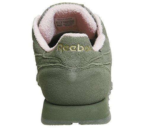 Pink LTHR Cl Exclusive Rose Femme Sneakers Green Hunter Pastels Reebok R4P7qq