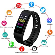 Fitness Trackers,LIGE Outdoor Sports Smart Bracelet Color Screen Waterproof Sports Watch with Heart Rate Monitor Sleep Monitoring Activity Tracker Pedometer Black Sports Bracelet for Android/iOS