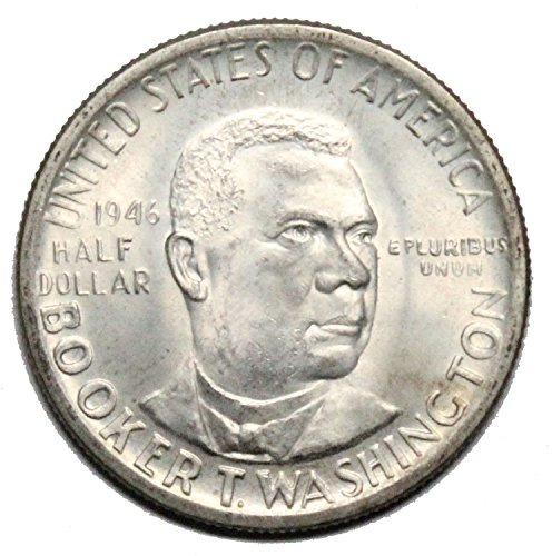 1946 - 1951 Booker T Washington Commemorative Half Dollar (Random Dates and Mint Marks) 50c About Uncirculated/Brilliant Uncirculated