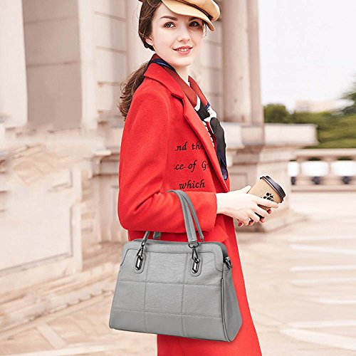 Handbags Leather Gray Shoulder Domybest Fashion Bags Ladies Women Elegant PU wOxnYq7I1F