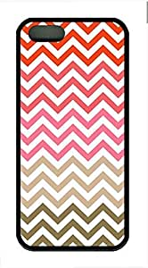 Colored Stripes Cover Case Skin for iPhone 5 5S Soft TPU Black