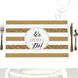 We Still Do - 50th Wedding Anniversary - Party Table Decorations - Anniversary Party Placemats - Set of 12