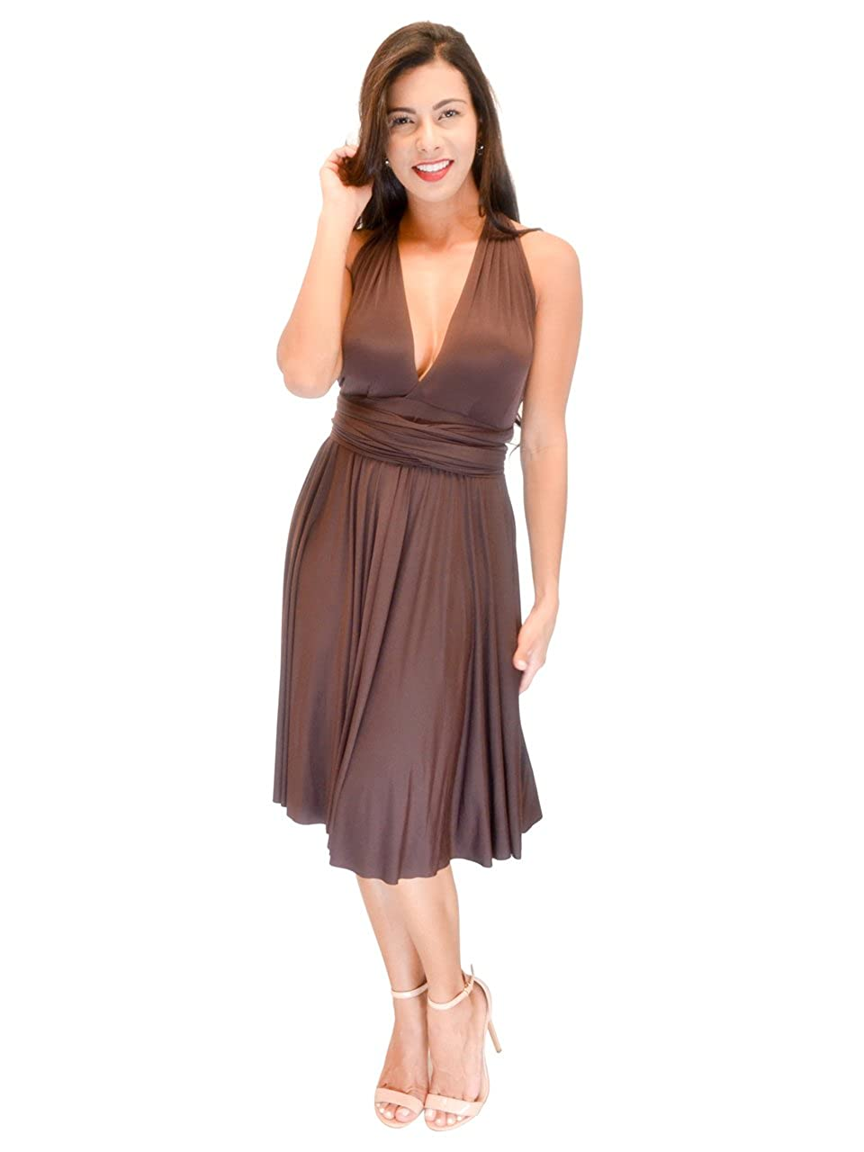 Vivian's Fashions Dress - Twist Wrap, 8 Ways to Wear (Misses and Misses Plus) VF Manufacturing VF5000