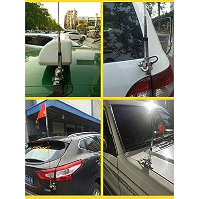 Mobile Antenna Mount EasyTalk RB-400 VHF UHF for BaoFeng QYT TYT Kenwood Car Radio Walkie Talkie, Silver: Car Electronics