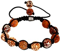 Royal Diamond Light Chocolate Colored Shamballa Style Bracelet