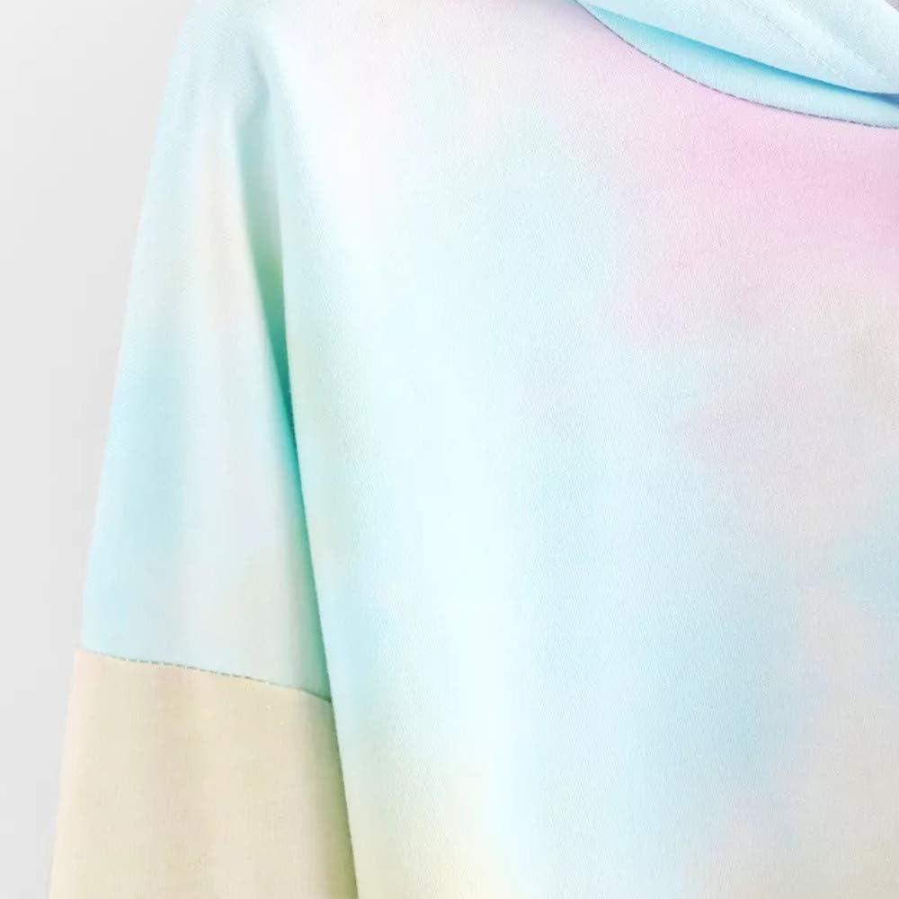 Amlaiworld Sweatshirts Herbst Frauen bunt Kapuzenpulli Damen warm Sweatshirt Sport Bluse Mode Pullover kurz bauchfrei Tops
