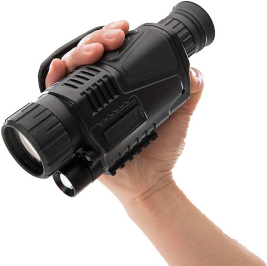 CanKun Binoculares Infrarrojos Digitales De Visión Nocturna 5X40,Cámara De Alcance Nocturno,No Térmico para Cazar Monocromo De Camuflaje,Negro