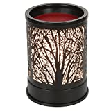 Foromans Wax Melts Candle Warmer Classic Black Metal Forest Design Fragrance Oil Warmer