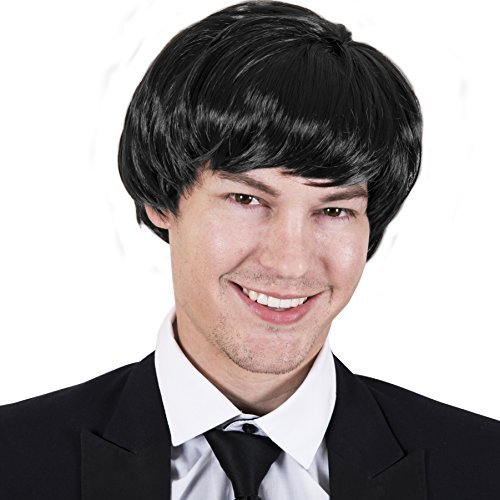 Kangaroo Halloween Accessories - 60's Rock Band Wig -