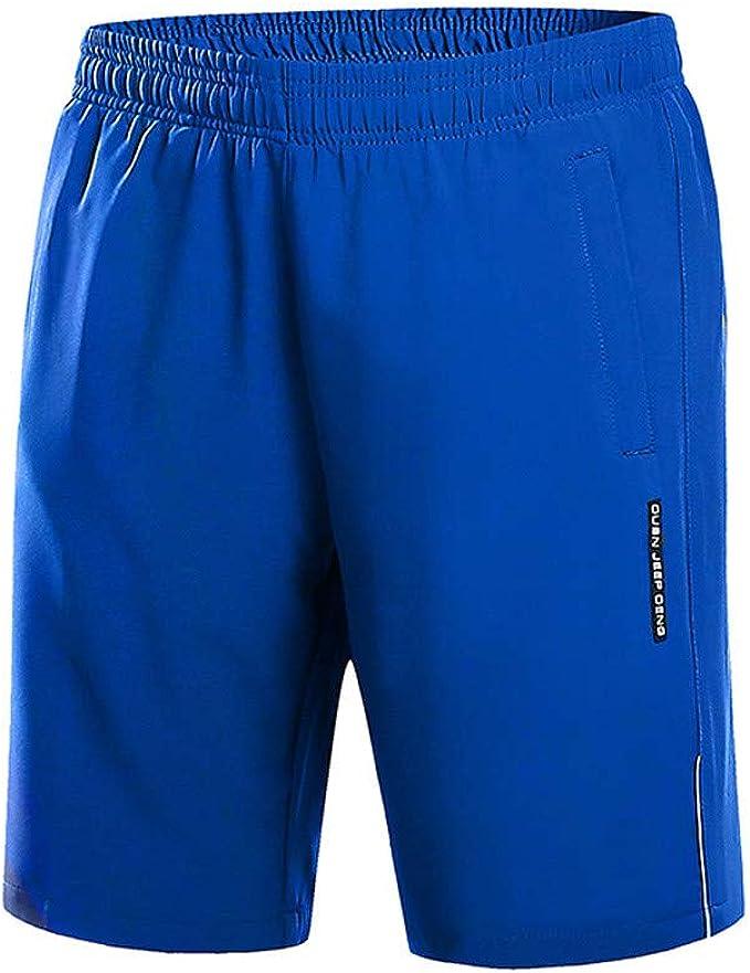 YEBIRAL Pantalones Cortos Hombre, Verano Color sólido Secado ...