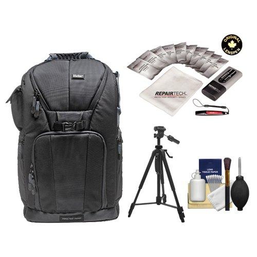 Vivitar Series One Digital SLR Camera/Laptop Sling Backpack - Large (Black) Holds Most 17'