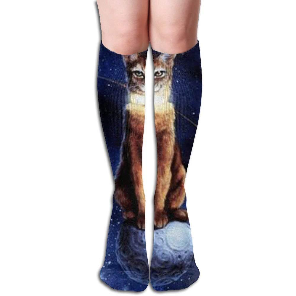 Long 50cm) Compression Socks Cat From Outer Space Unisex Full Socks Long Socks Knee High Socks