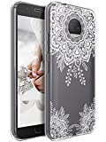 Moto G5S Plus Case, LK Ultra [Slim Thin] TPU Gel Rubber Soft Skin Silicone Protective Case Cover for Motorola Moto G5S Plus - White Henna