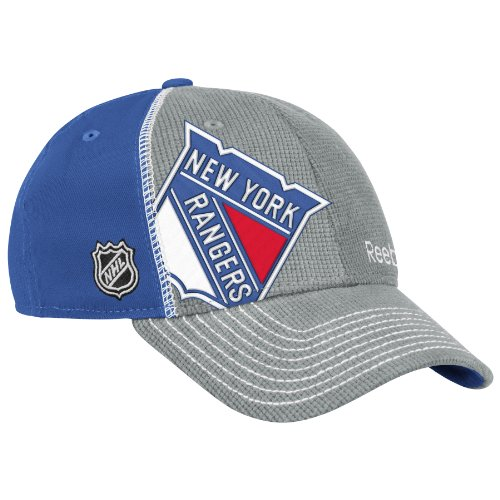 NHL New York Rangers 2012 Draft Hat, Grey, LG/XL (New York Rangers Hat Reebok)