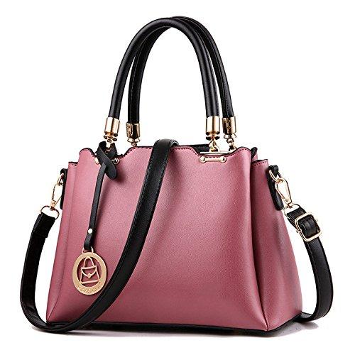 Bolso De Hombro De Las Mujeres Messenger Bag Classic Fashion Simple Darkpink