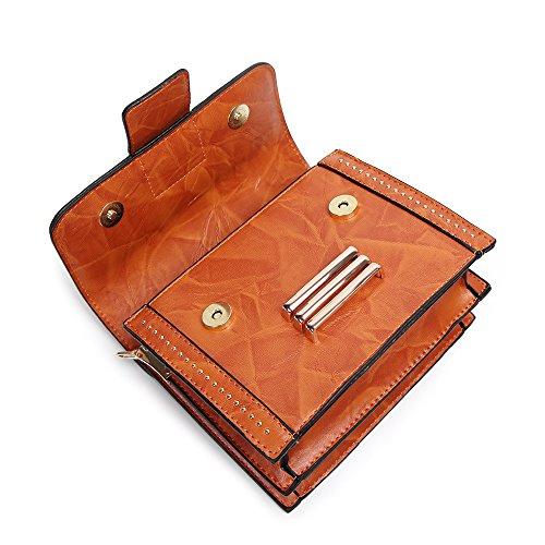 Diagonal Body WineRed Cross Bags Portable Brown WenL Package Bag Nuevo Ladies Spring Square Bag Shoulder 0q5xR