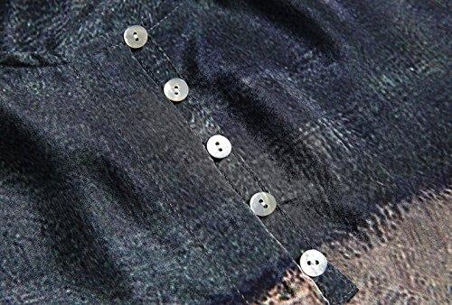 Di Bobbycool Di Sette A Signore Astratto Seta Maniche Di Abbigliamento shirt Più Codice T Stampa rRrw0fq