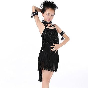 Concurso de baile latino para niñas Ropa para niños Vestido de baile latino Concurso de ropa