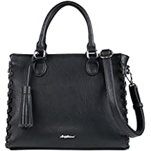 Concealed Carry Purse - YKK Locking Laced Ann Concealed Weapon Satchel by Lady Conceal