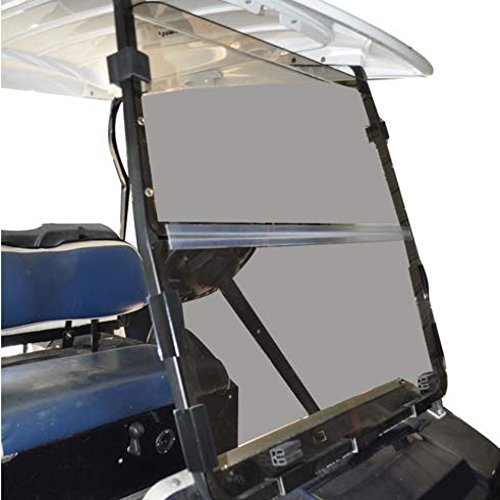 (Club Car DS 2000.5 to Current Tinted Fold Down Impact Resistant Windshield for CC DS 2000.5 to Current Golf Cart)